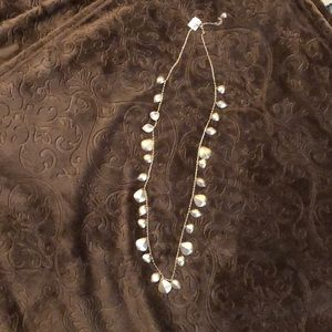 Lia Sophia Gold shell long necklace